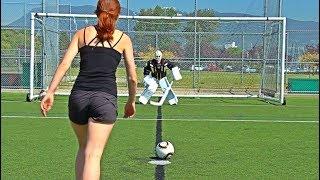 PAVEL BARBER vs. KANE VAN GATE   Soccer Shootout Challenge