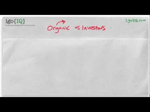 What is organic business growth versus outside investment.