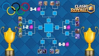 Clash Royale Olympic Games/The biggest olympic games of clash royale/which card is the strongest????