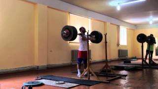 Senior National Weightlifting Team preparing for Nationals- Armenia