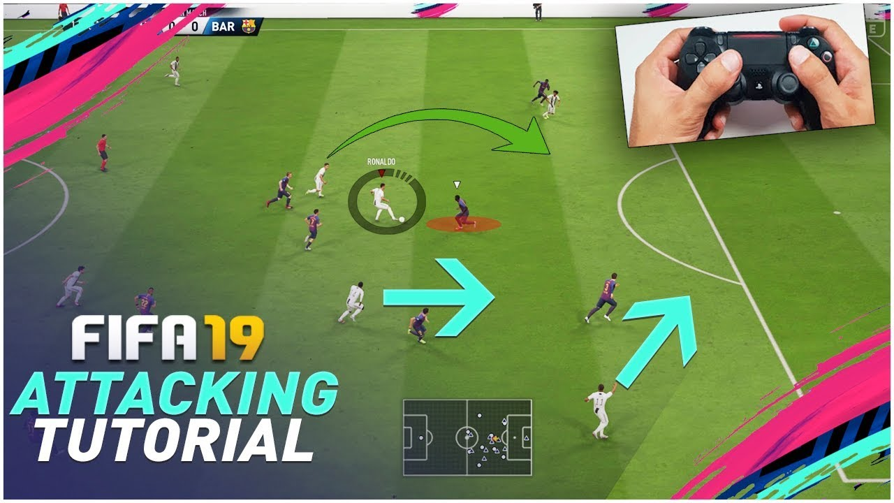 Download FIFA 19 ATTACKING TUTORIAL - 3 SIMPLE TECHNIQUES TO SCORE AGAINST ANY DEFENCE !!! TIPS & TRICKS