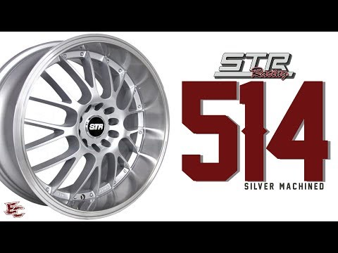 STR 514 18X8.5, SILVER MACHINED