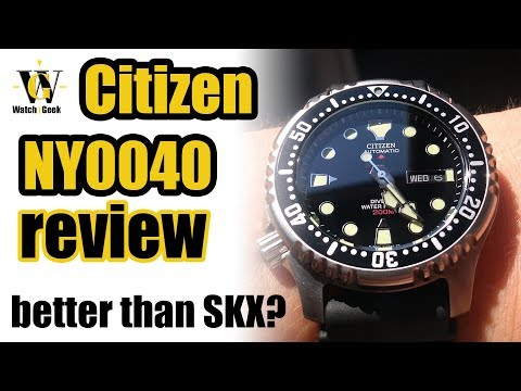 Citizen NY0040 Review - is it better than Seiko SKX007