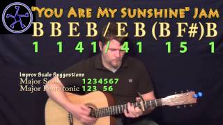 You Are My sunshine Jam in B Major - Acoustic Guitar Instrumental