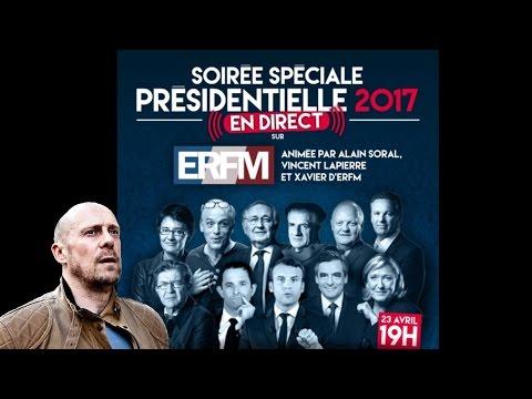 Alain Soral réagit en direct aux résultats du 1er tour de la présidentielle 2017 .