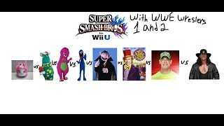 Cribes Mii Channel: Super Smash Bros for Wii U with two WWE wrestlers John Cena and Undertaker 2/2