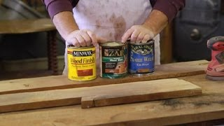 How to Restain Old Wood : Furniture Repair Tips