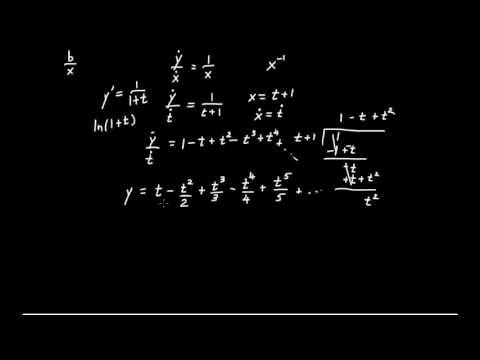 Newton's Infinitesimal Calculus (5): Differential Equations and Series for ln(x), arctan(x)