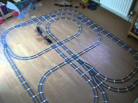Large Lego Train Track Layout