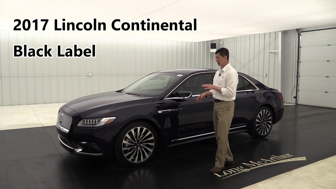 2017 Lincoln Continental Black Label Chalet Awd 17564