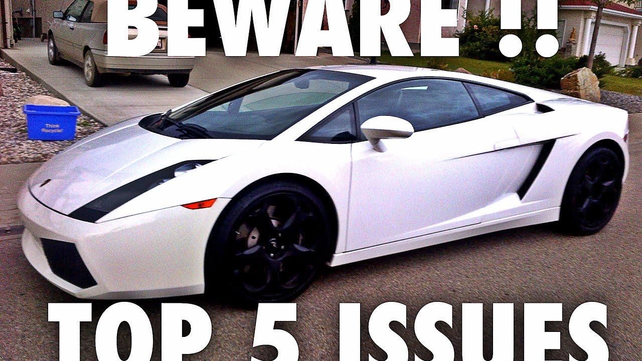 Lamborghini gallardo problems