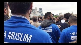 HUNDREDS OF MUSLIMS STAND WITH LONDONERS AT LONDON BRIDGE VIGIL 2017