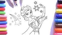 Disney Frozen Elsa Boyama Keçeli Kalem