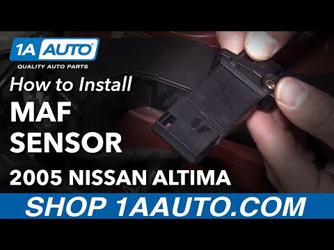How to Clear P0102 Code Replace Mass Air Flow Sensor 04-12 Nissan Altima L4 2.5L