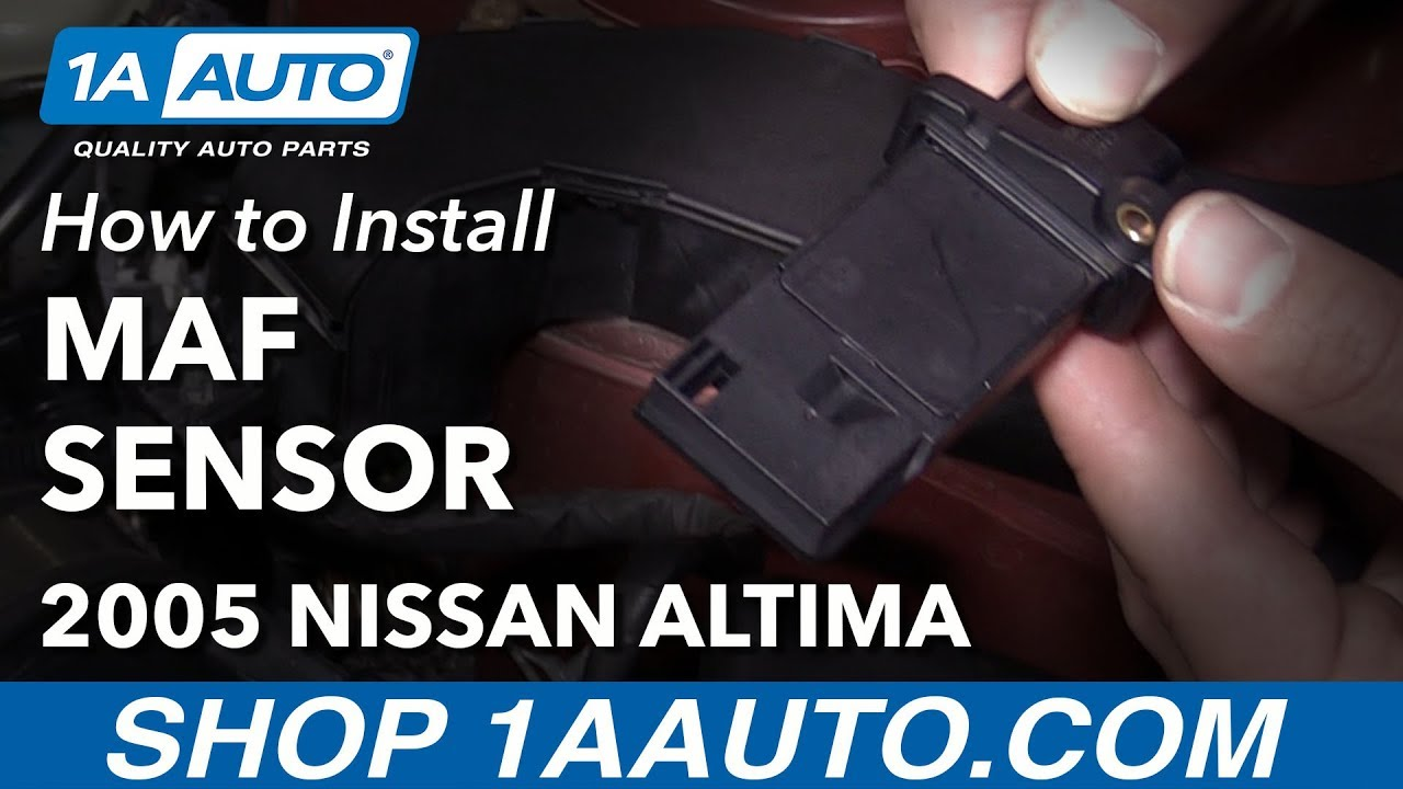 how to clear p0102 code replace mass air flow sensor 04 12 nissan altima l4 2 5l [ 1280 x 720 Pixel ]