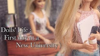 Dolls` Life (  First day at a New University ) Stop Motion