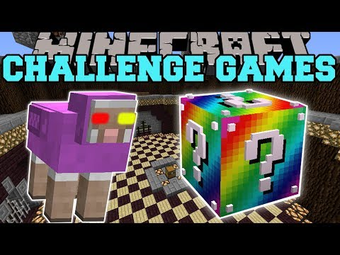 Minecraft:  MR. RAINBOW CHALLENGE GAMES - Lucky Block Mod -
