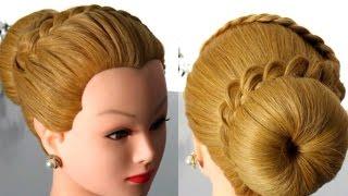 Прическа на длинные и средние волосы с плетением.