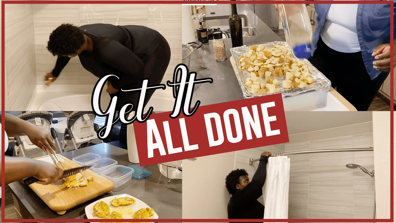 GET IT ALL DONE WITH ME | MEAL PLANNING AND MEAL PREP | BATHROOM DEEP CLEAN | CLEANING MOTIVATION