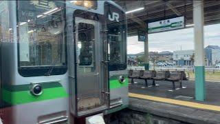【車窓動画】E129系 信越本線 普通 新潟行き 三条→東三条/E129 series Shinetsu line  bound for Niigata Sanjo→Higashi-Sanjo