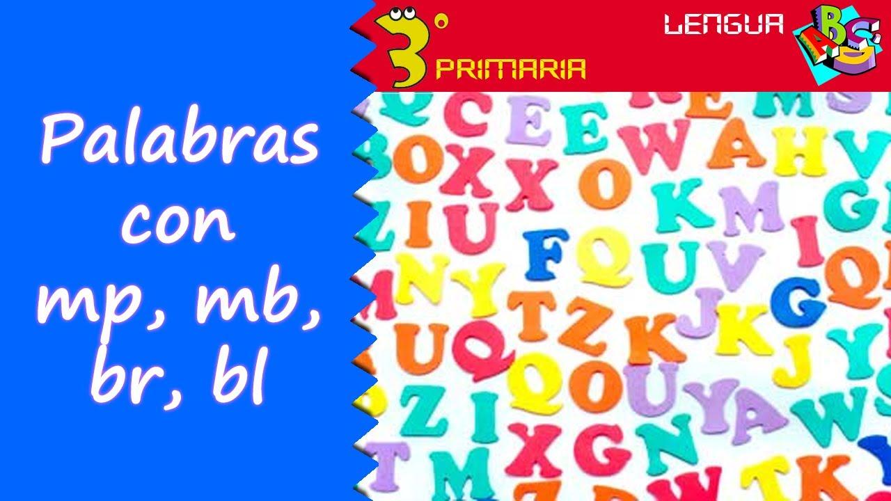 Lengua castellana 3 primaria tema 11 palabras con mp for Mp mb scuola primaria