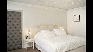 Décoration d'une chambre d'hôtel 5* : aux couleurs douces. French hotel country style