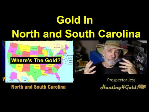 Where To Find Gold In North And South Carolina (Gold Maps)