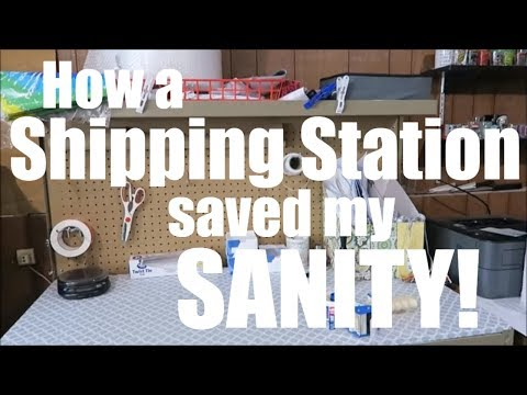 A Shipping Station Saved My Sanity for eBay and Amazon Sales!