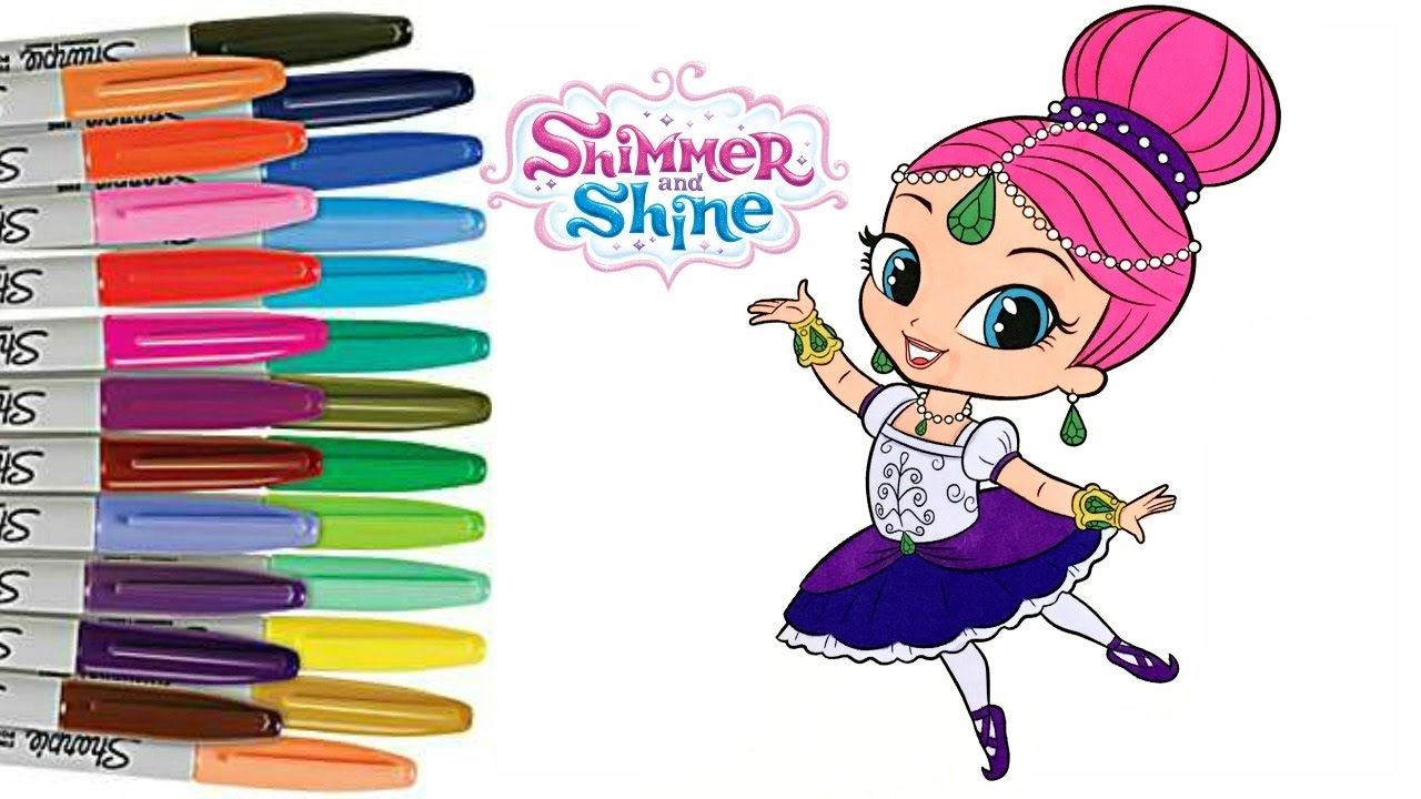Shimmer And Shine Coloring Book Ballerina How To Color Sprinkled Donuts