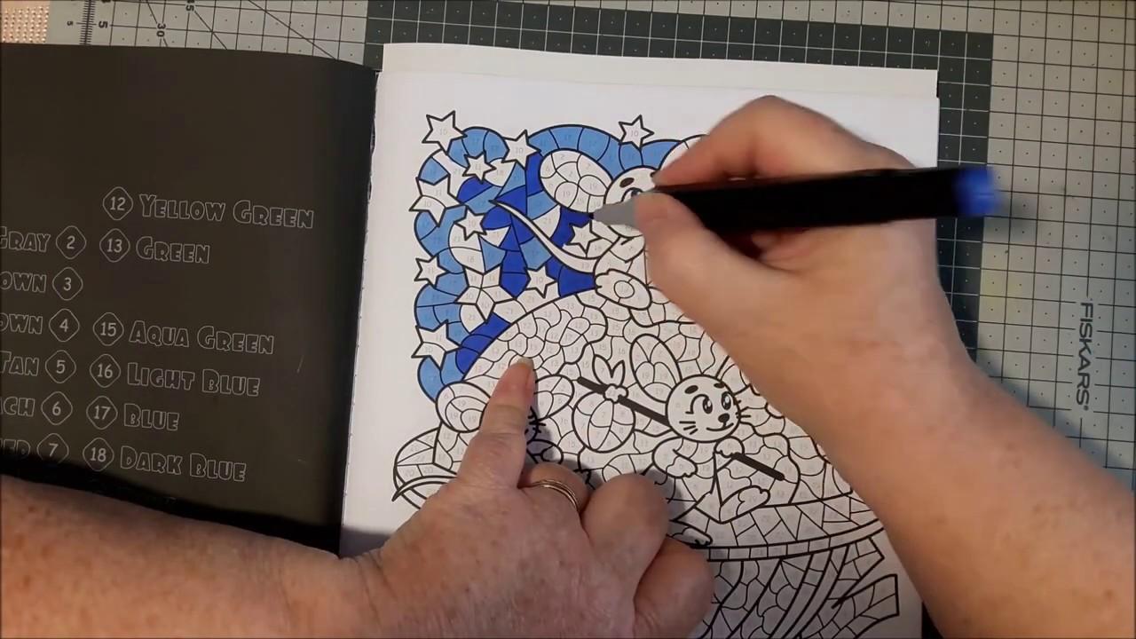 Coloriage par numéros (façon vitrail) - YouTube