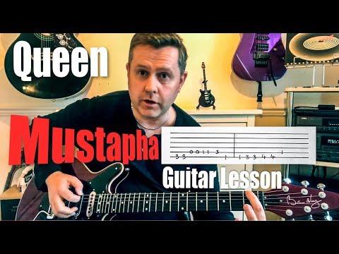 Queen - Mustapha - Guitar Lesson (Guitar Tab)
