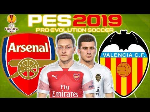 Arsenal Vs Valencia Prediction | Europa League Semi Final 1st Leg 2nd May | PES 2019 Gameplay