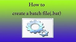 How to create a Batch file in windows 7