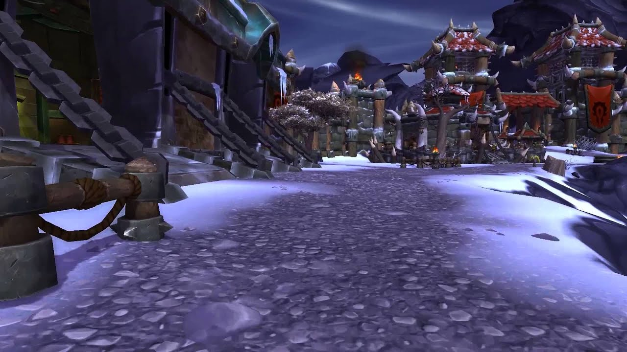 World of warcraft warlords of draenor horde level 3 garrison youtube malvernweather Image collections