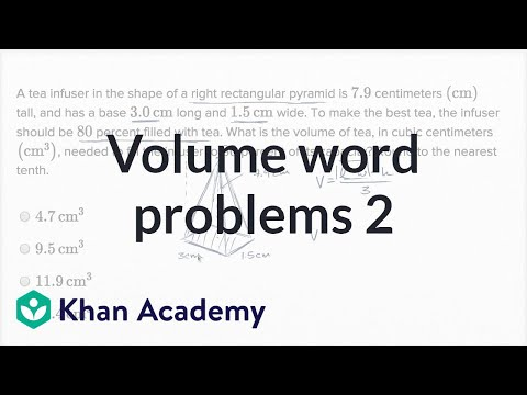 Volume Word Problems — Harder Example | Math | New SAT | Khan Academy