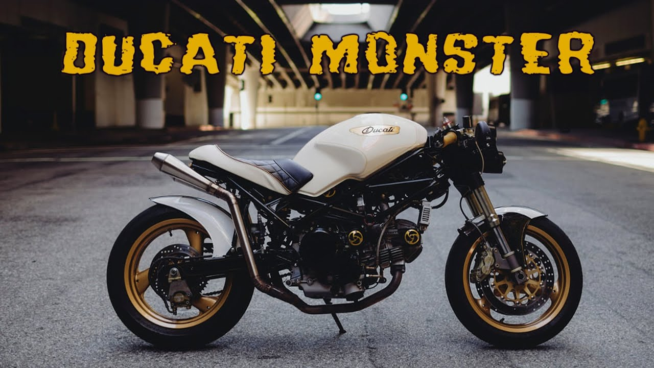 ducati monster 750 cafe racer by motolady youtube. Black Bedroom Furniture Sets. Home Design Ideas