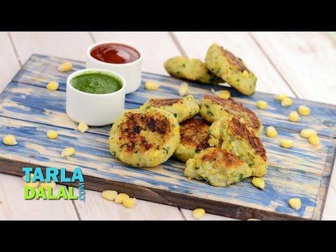 Corn and Potato Tikkis by Tarla Dalal