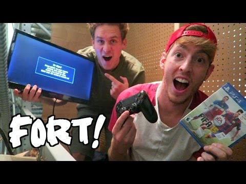 RAFTERS FORT WITH A PLAYSTATION!