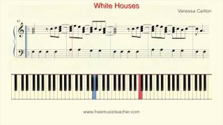 """Http://www.freemusicteacher.com/ how to play piano: vanessa carlton """"white houses"""" piano tutorial by ramin yousefiyou can learn from basic advance ..."""