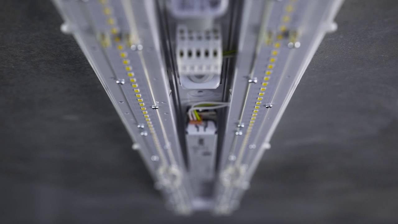LED light fixture LINEA. TREVOS ... & LED light fixture LINEA - YouTube azcodes.com