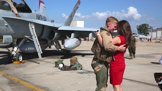 US Marines F-18 Squadron Homecoming 🇺🇸
