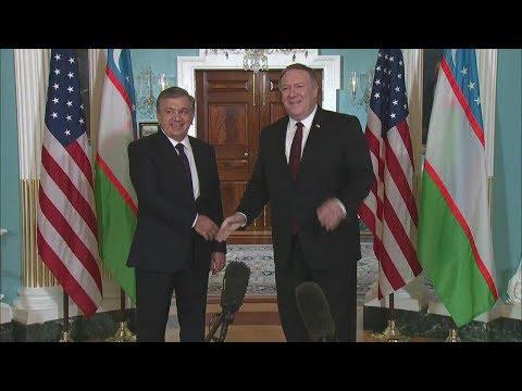 Secretary Pompeo Meets with President of Uzbekistan Shavkat Mirziyoyev