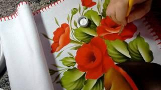 Pintando papoulas com Janete Seibert