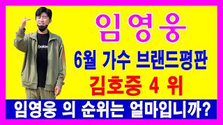 6월 가수 브랜드평판, 김호중 4 위...임영웅 의 순…