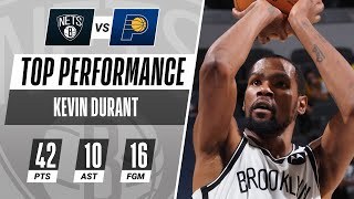 Kevin Durant TIES SEASON-HIGH 42 PTS in the Nets WIN! 🔥