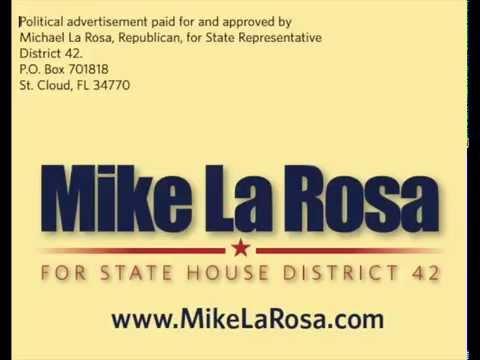 """Anuncio de radio Mike La Rosa """" trabajando duro para nosotros ! """" by Jamestown Associates"""