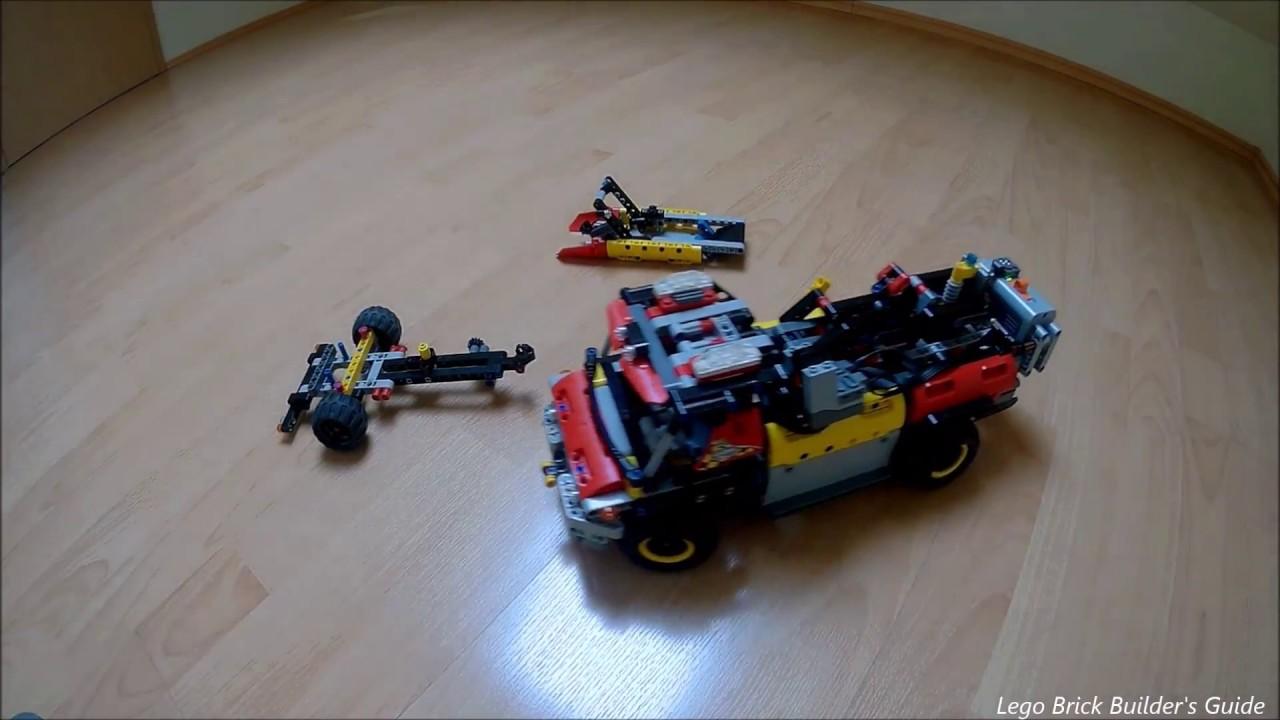 Lego Technic Rc Motorized 42068 Fire Rescure Vehicle B Model Moc