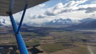 Mountain Flying in the  Southern Alps of the South Island, New Zealand