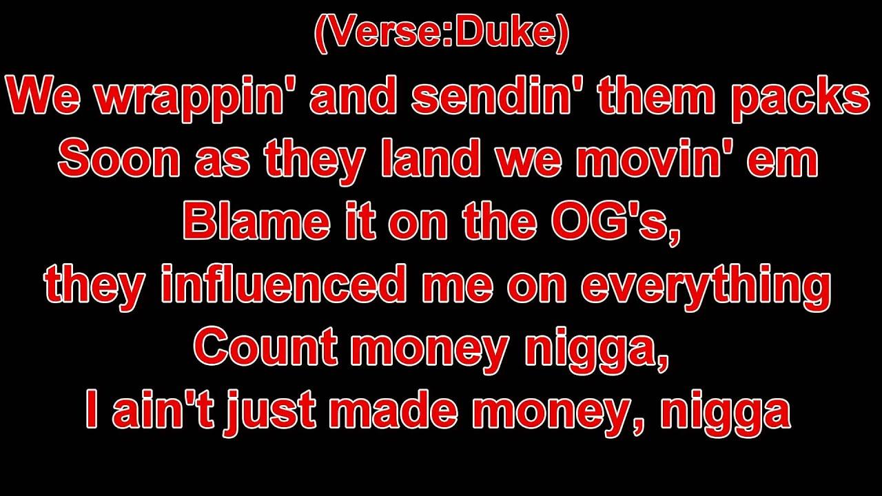 Young Thug Ft Duke - With That (Lyrics)
