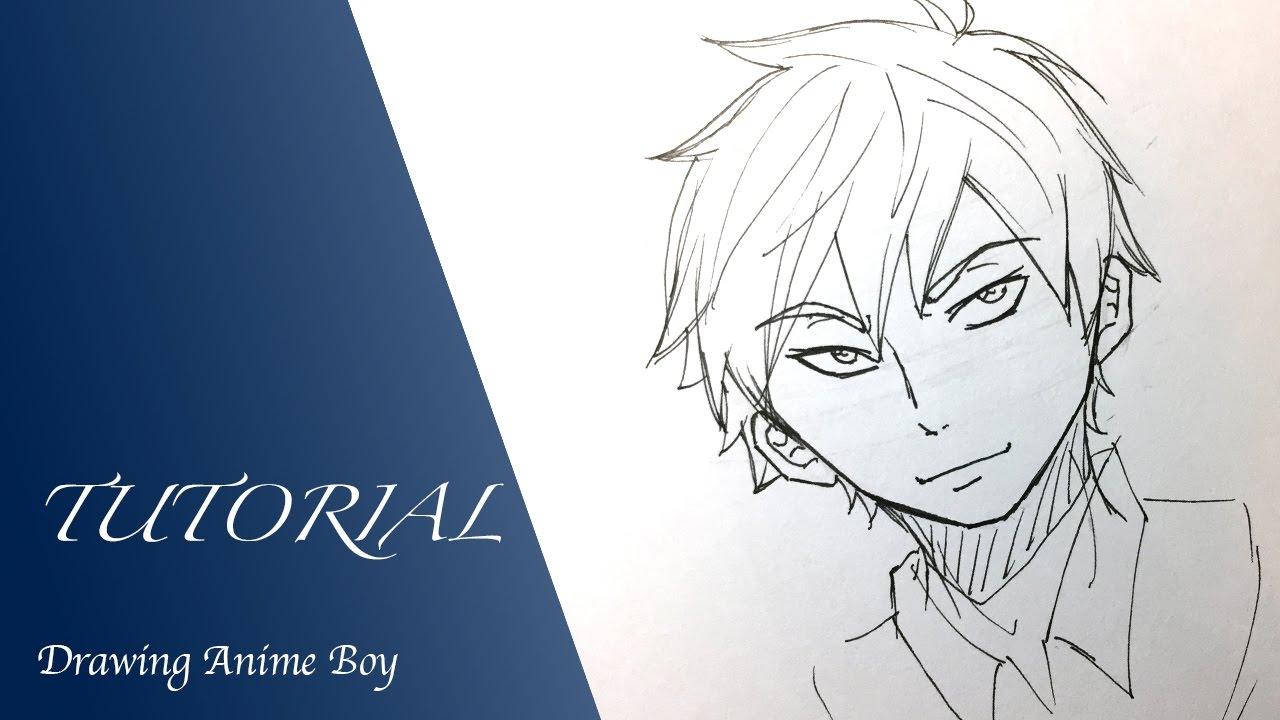 How to draw anime boy tutorial